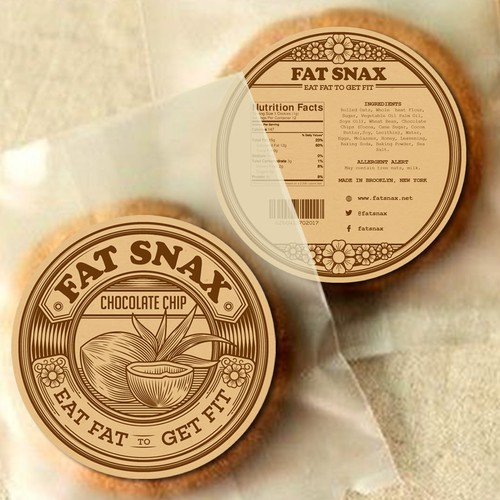 Fat Snax Label Design