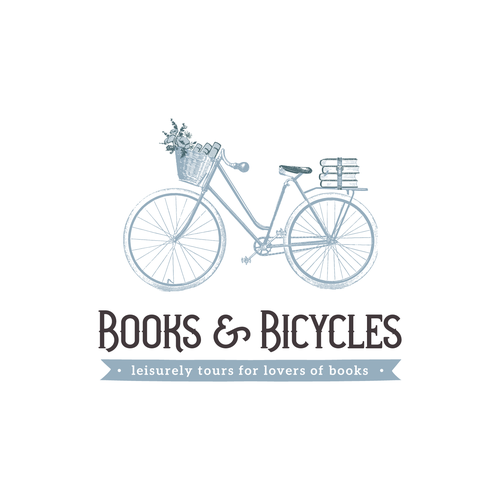Books and Bicycles Vintage Logo