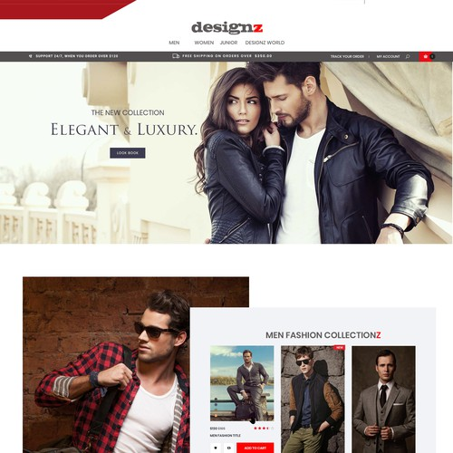 e-commerce landing page for fashion brands
