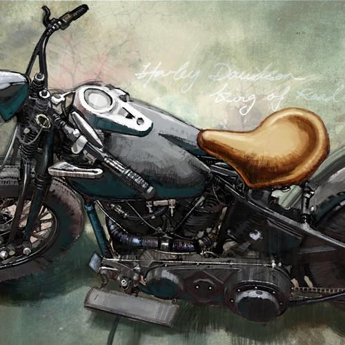 Harley Davison painting