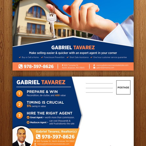 Top real estate agent looking for SMASHING design for postcard!!!