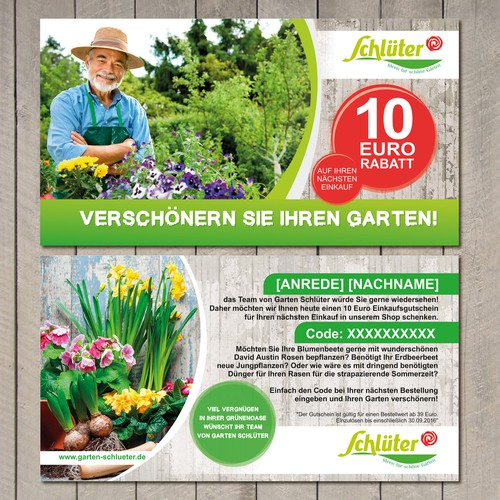 Reactivation Flyer for a gardening shop