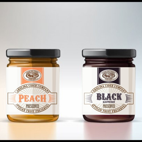 Label for artisan fruit preserves for southern country stores
