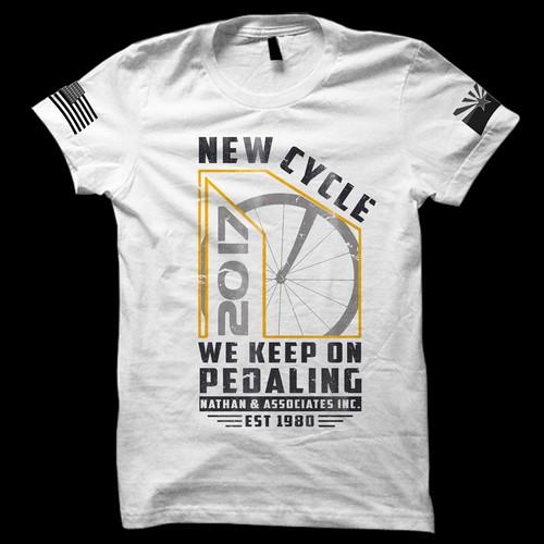 Keep on pedaling tshirt design