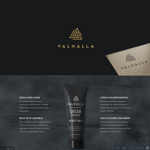 Male skin care brand, Viking themed