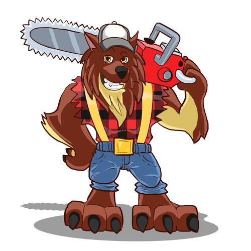 Wood chopper mascot