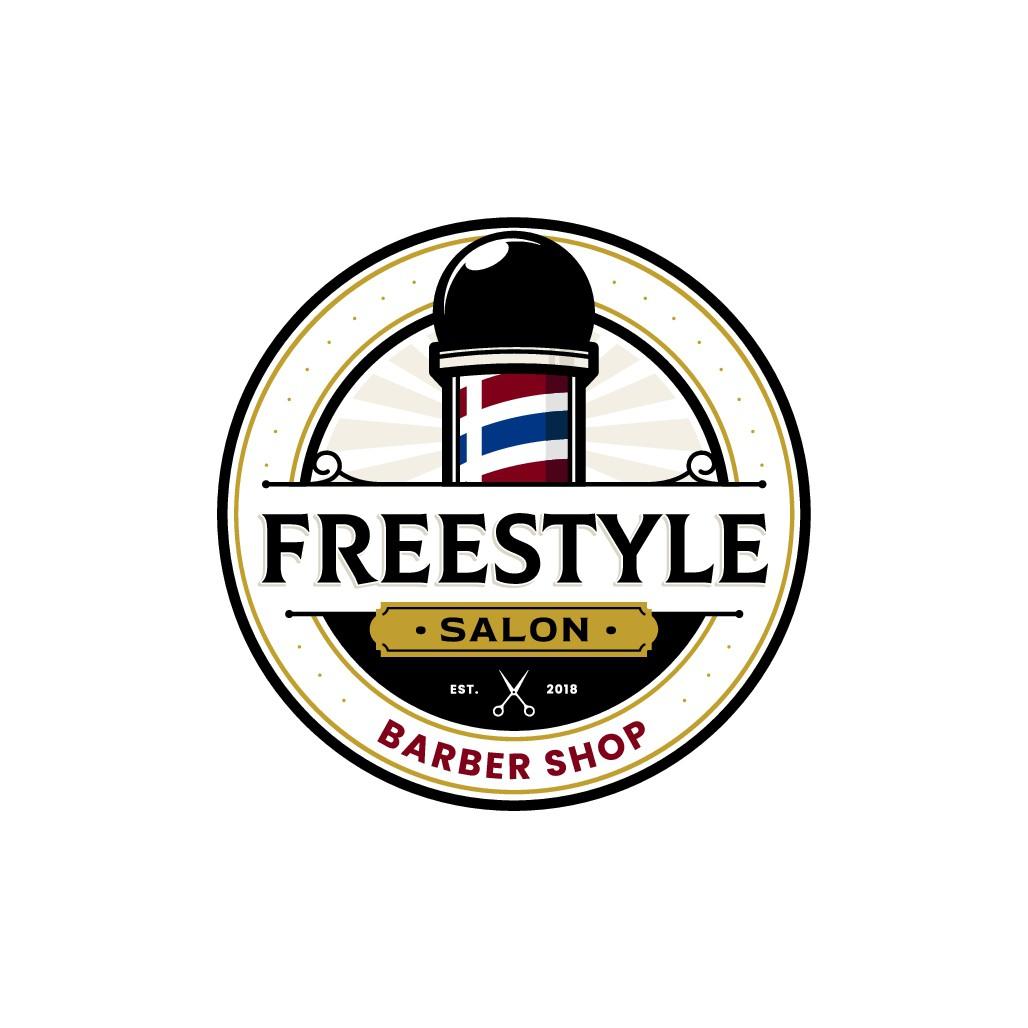 logo for fancy barber