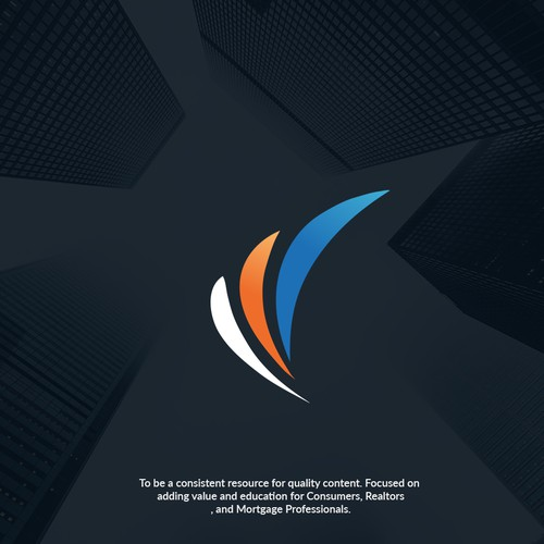 Modern abstract logo for Real Estate & Mortgage