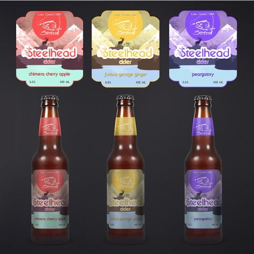 Steelhead Cider needs a revamped label design