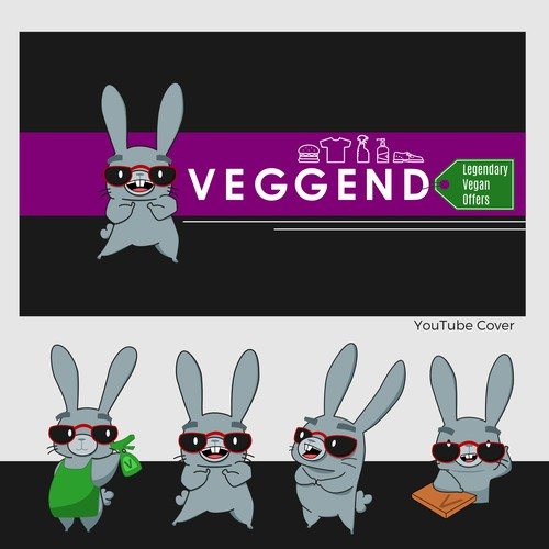 Logo and Social headers for Veggend.
