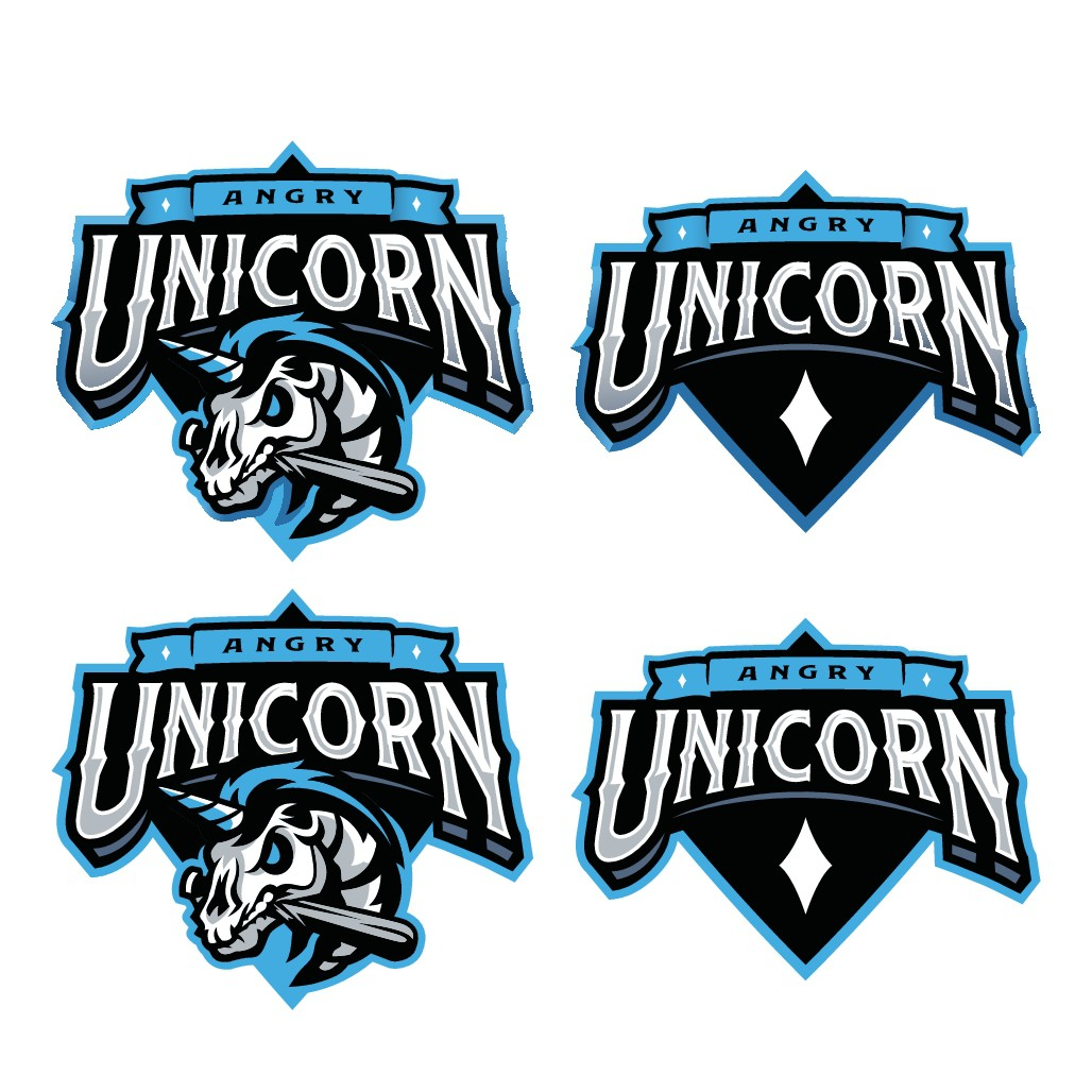 ANGRY UNICORN LOGO **Guaranteed Project - Design for sports card company