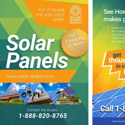 Solar Flyer and Door Hanger for Homeowners