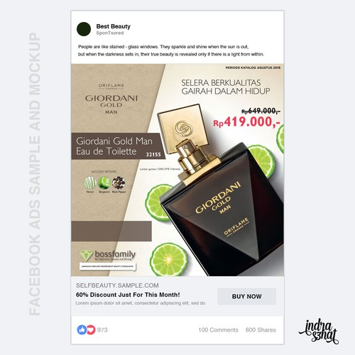 Facebook Ads Sample for beauty product