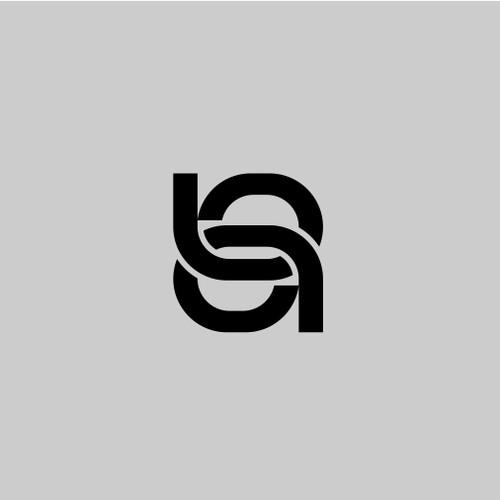 b+a monogram logo concept