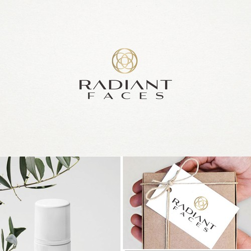 Elegant logo for Radiant Faces  cosmetics