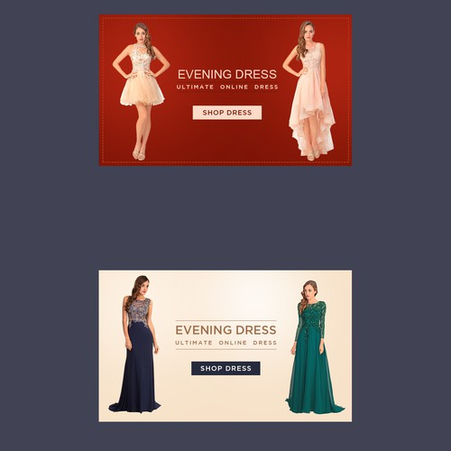 Banner design for evening dress fashion shop 735 x 440