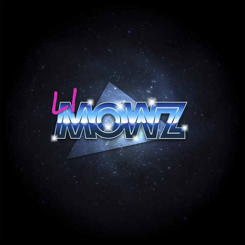 80's style logo