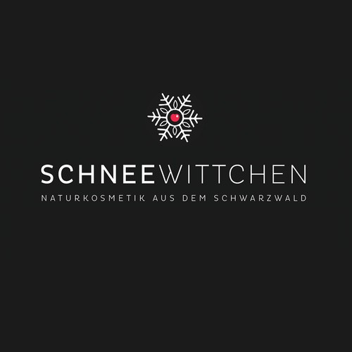 Logo for Snow White - cosmetic line from the black forest, Germany.