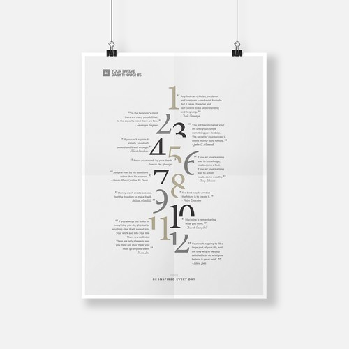 Minimalist 12 Inspirative Quotes Poster