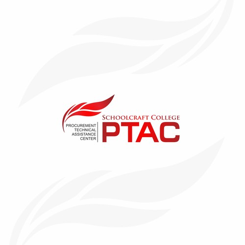 Red Text Logo Concept for PTAC