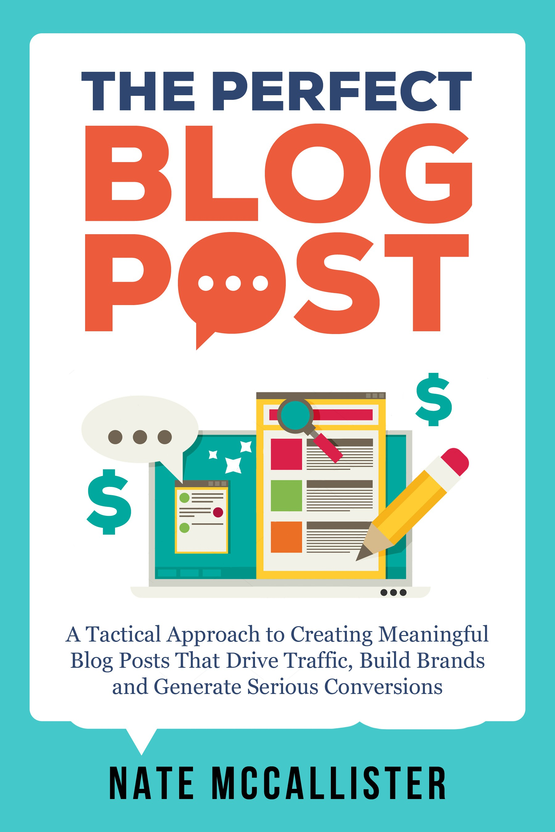 """Ebook cover for Non-fiction """"How To"""" Book on Blogging and Content Marketing"""