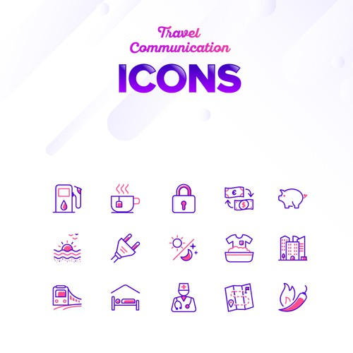 Icon Designs for Travel and Communications