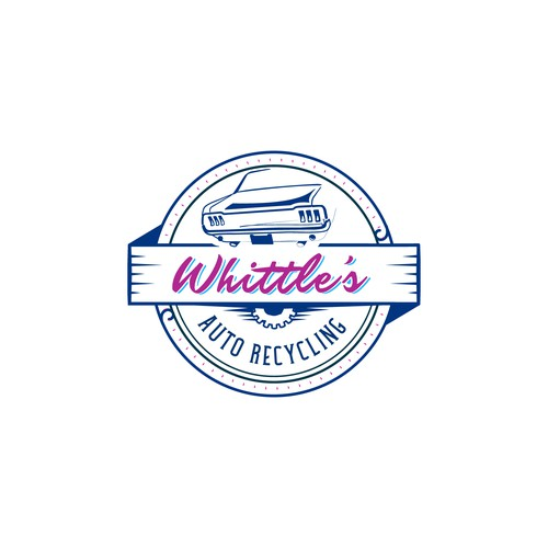 Vintage-retro logo with contrasting colors.