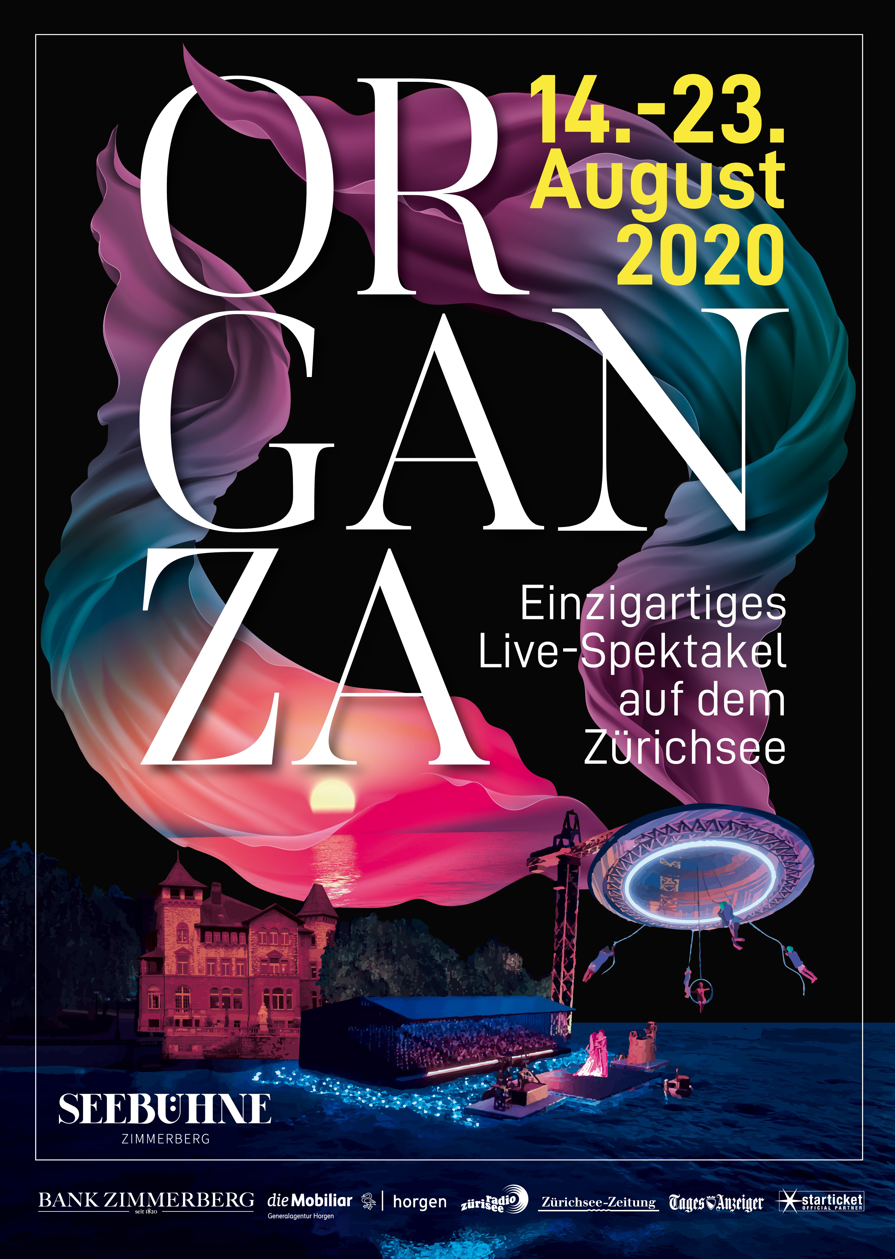 Create an attracting poster for Organza - the new spectacular show