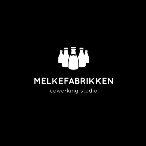 simple and clear logo for a coworking studio