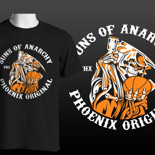Pheonix Suns of Anarchy Basketball T Shirt Logo! Let's see your bestshot!