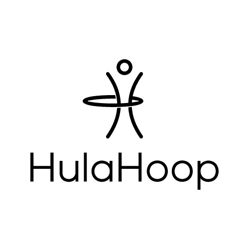 Design a modern, bright, fun logo for Hula Hoop