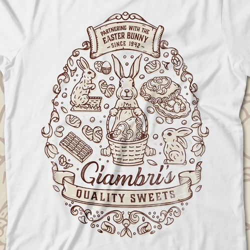 lineart logo for high quality sweets