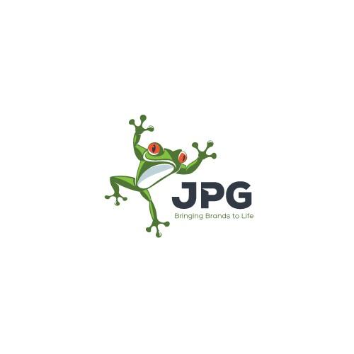 Re-design the Frog logo for JPG