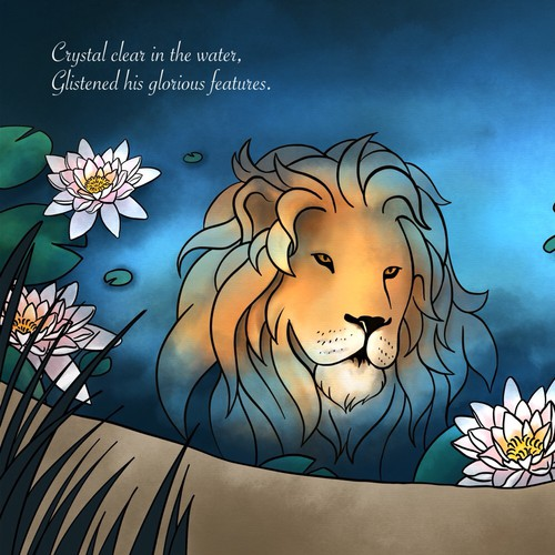 Lion Illustration for book