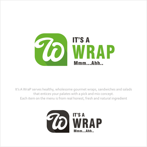 "Simply, Sleek, Classy and Fun Logo for ""It's A Wrap""."