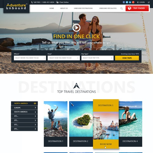 design for an Adventure Vacations Website
