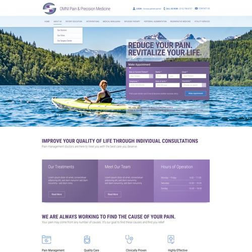 Web page design for Omni Pain & Precision Medicine
