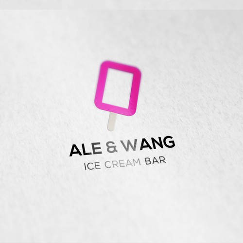 Logodesign for Ale & Wang Ice Cream Bar