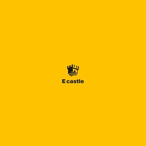 """design a hipster logo for shop phones and computer""E castle"""""