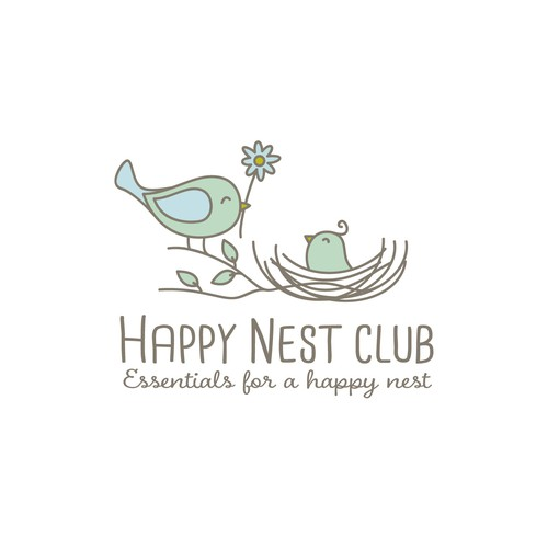 Cute whimsical logo