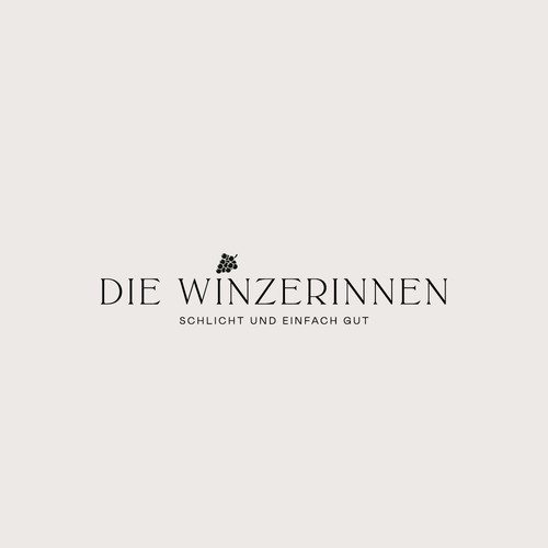 minimalistic logoconcept for a wine shop exclusively by women