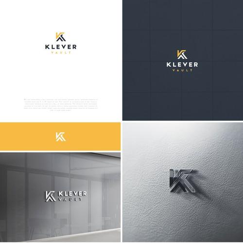 Klever Vault logo design