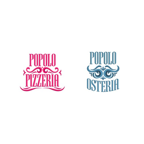 Create a logo for a new Pizzeria & Osteria wth tradition at its roots