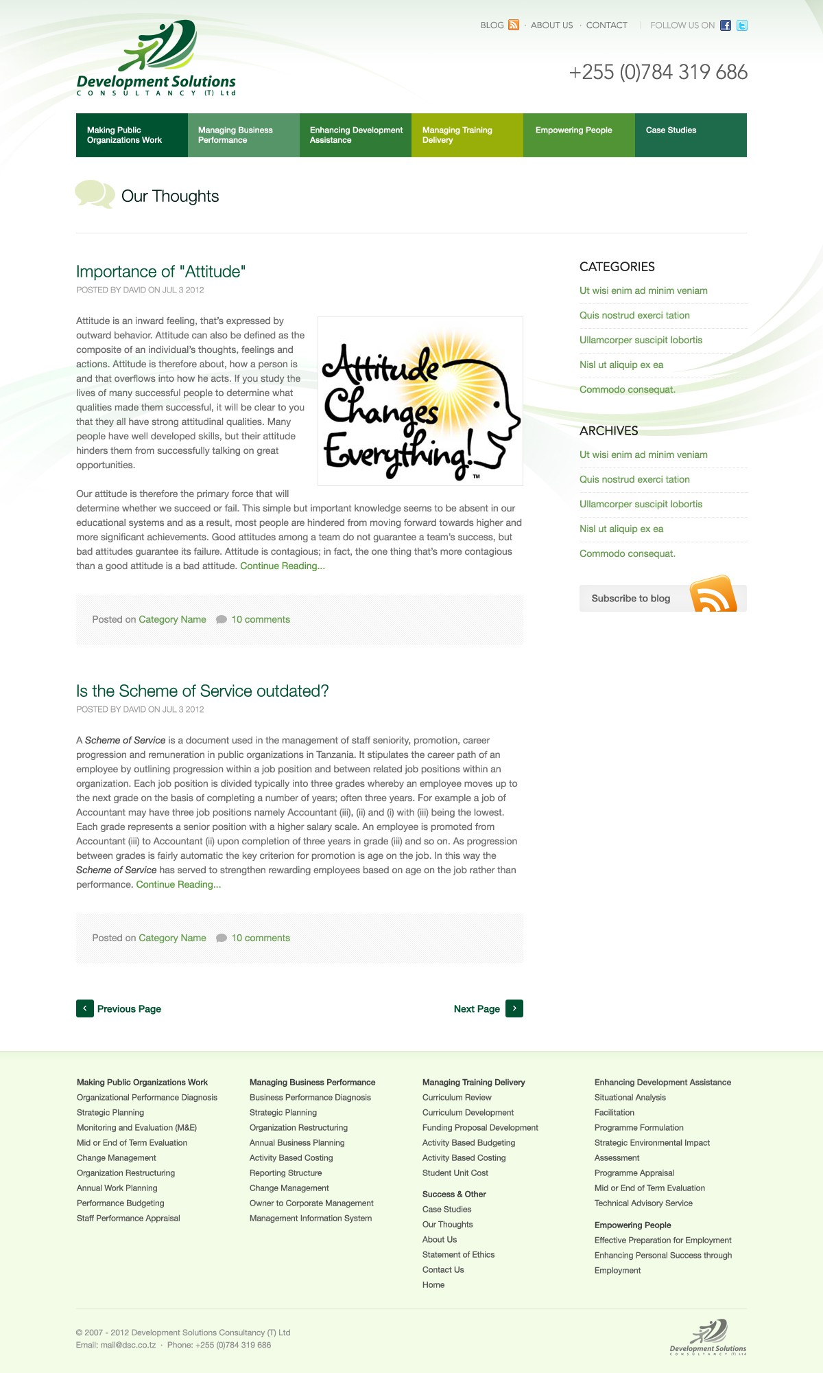 Help DSC (T) Ltd with a new website design