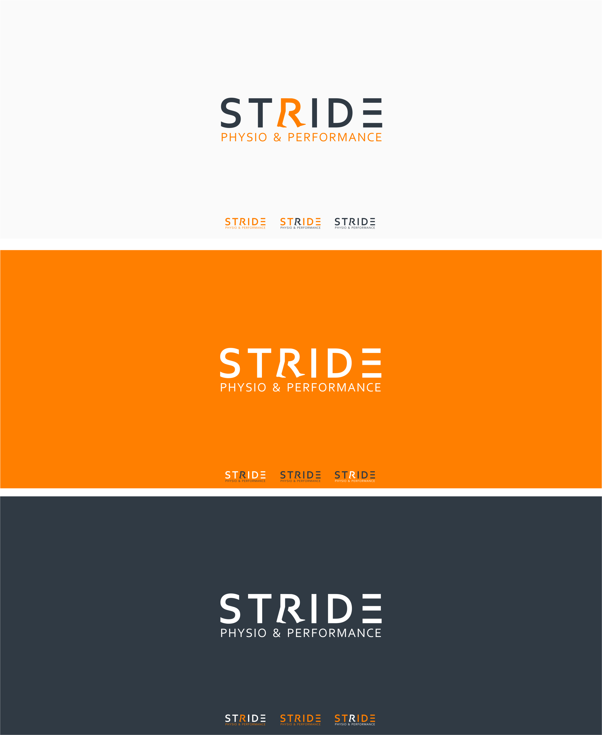Create a modern, edgy & fun logo for Stride Physio & Performance