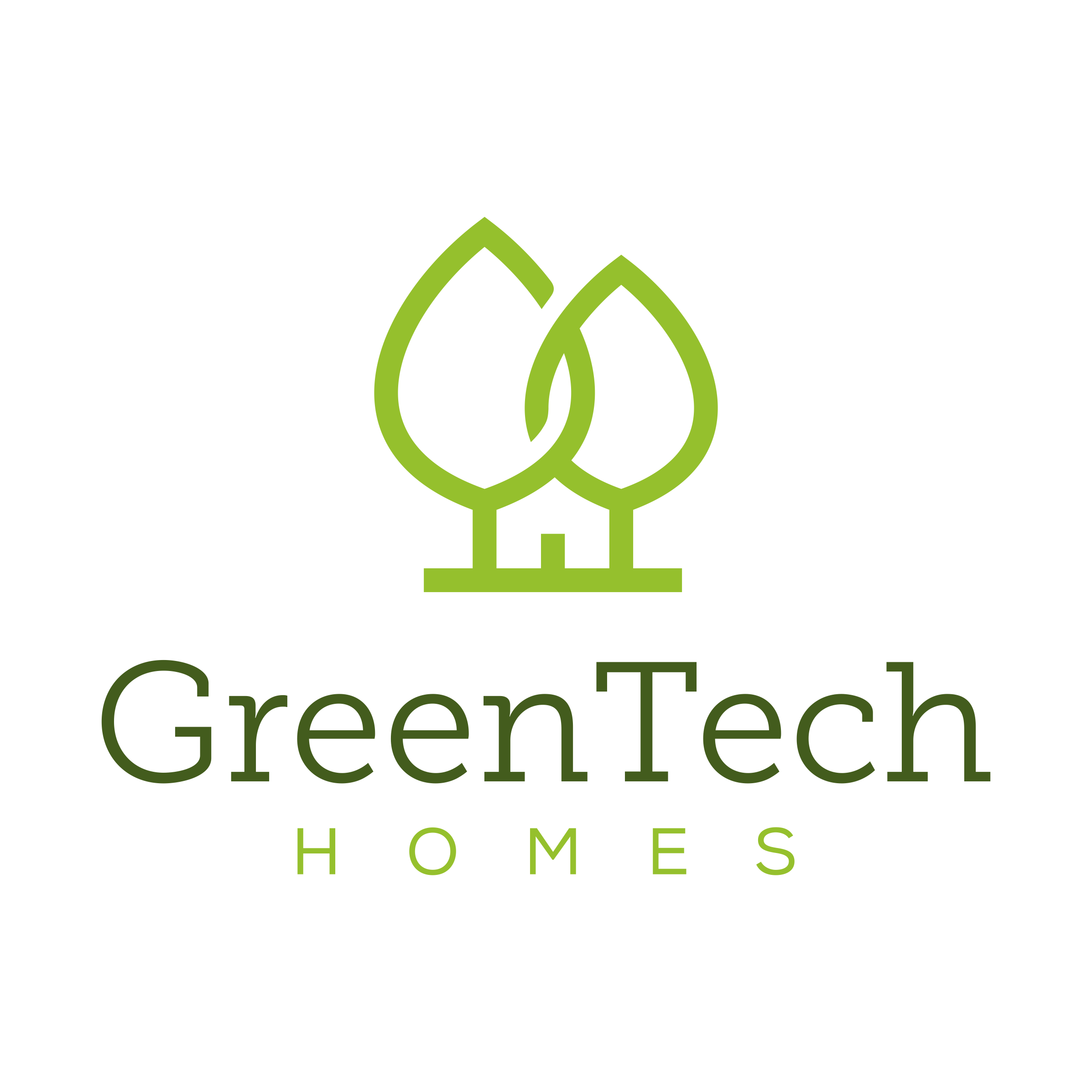 Craft an iconic logo for Greentech Homes
