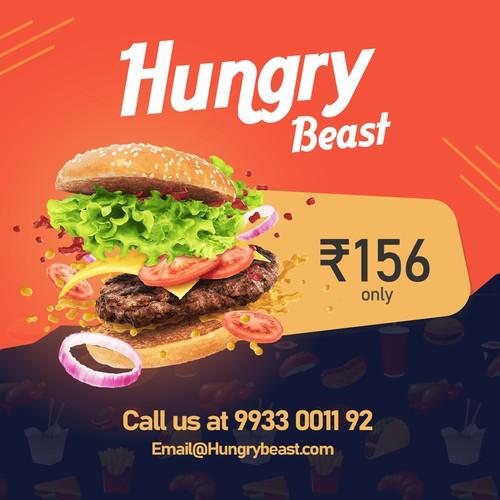Social media post for food company
