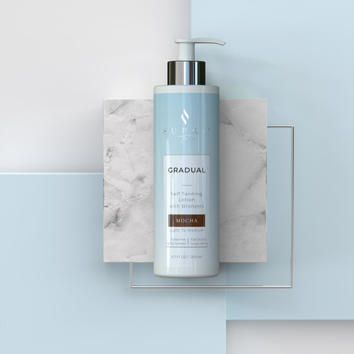 3D rendering for a lotion product