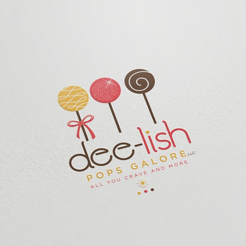 Logo for Dee-lish Pops Galore