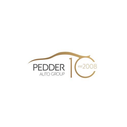 Pedder Auto goup special Anniversary logo